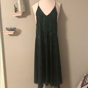 Urban Outfitters Sparkly Green Festival Tank Dress